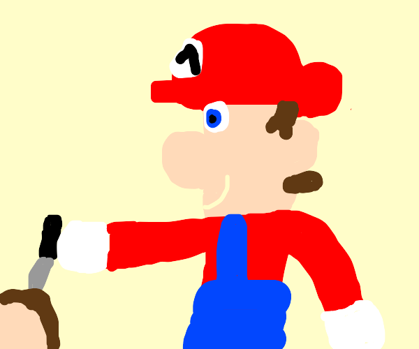 unmoustached mario commits murder