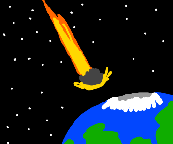 The Earth and an Astroid