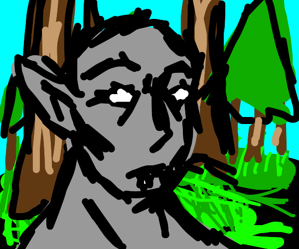 forest ghoul with big ears