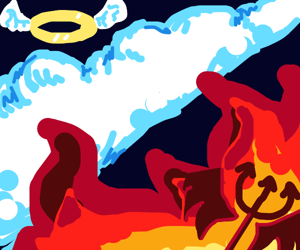 Angelic clouds vs hellfire