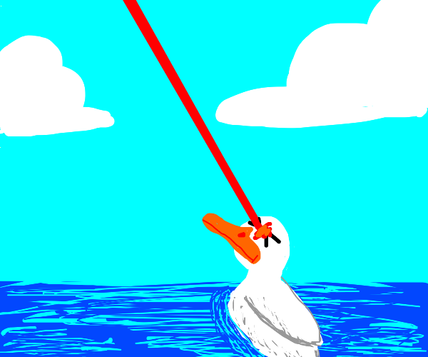 Duck is blinded by God with a laser