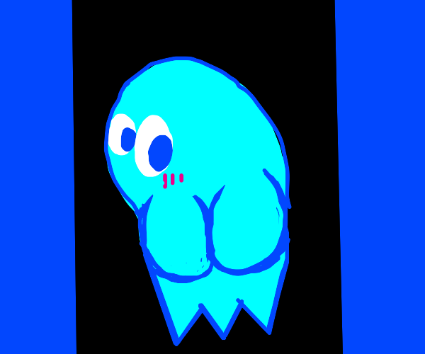 Inky's (Pac-Man ghost) butt