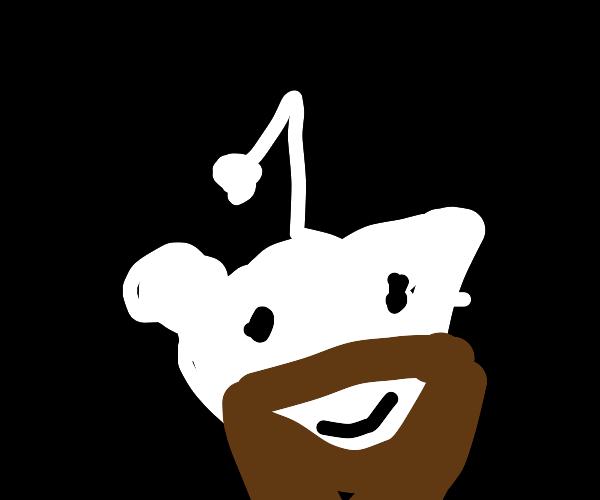 reddit logo with beard