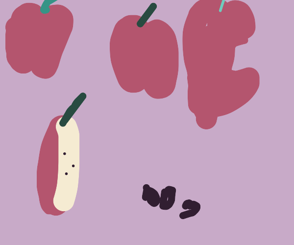 The Moon Cycles But With Apples