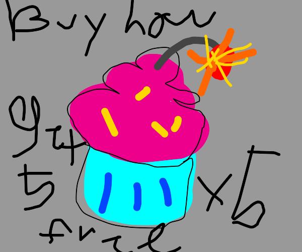 Explosive cupcakes