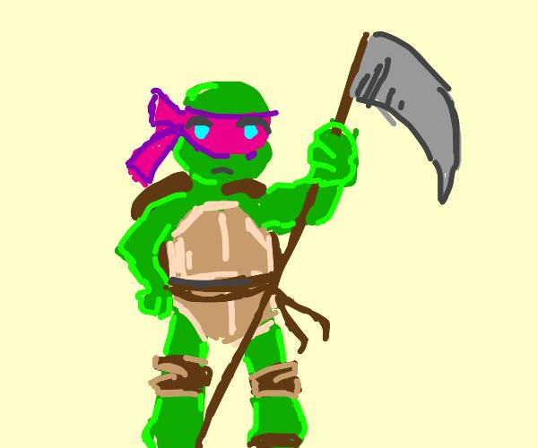 Female Ninja Turtle with Scythe