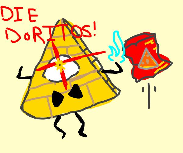Bill Cipher hates Doritos