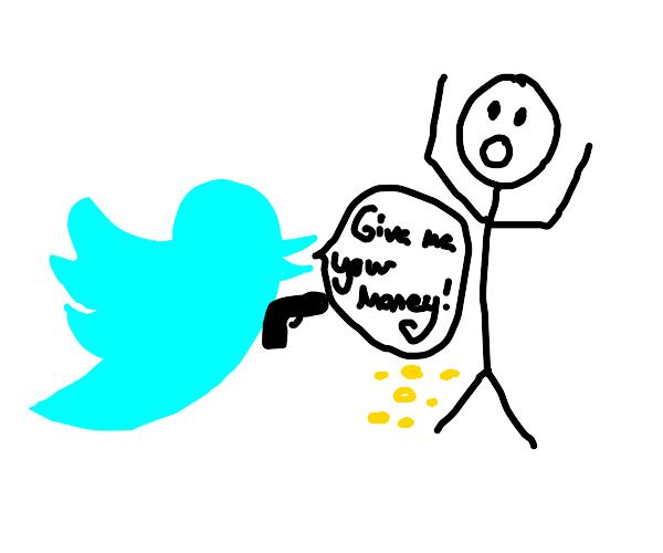 Twitter mugs a man