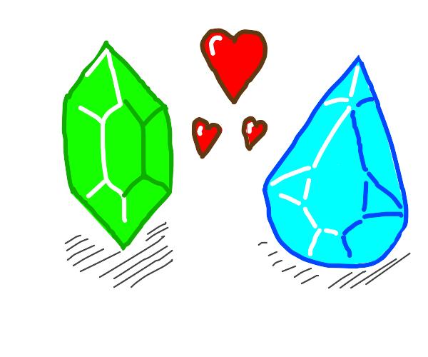 Emerald and Diamond fall in love