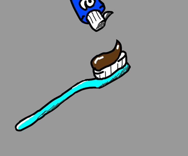 dirty toothepaste