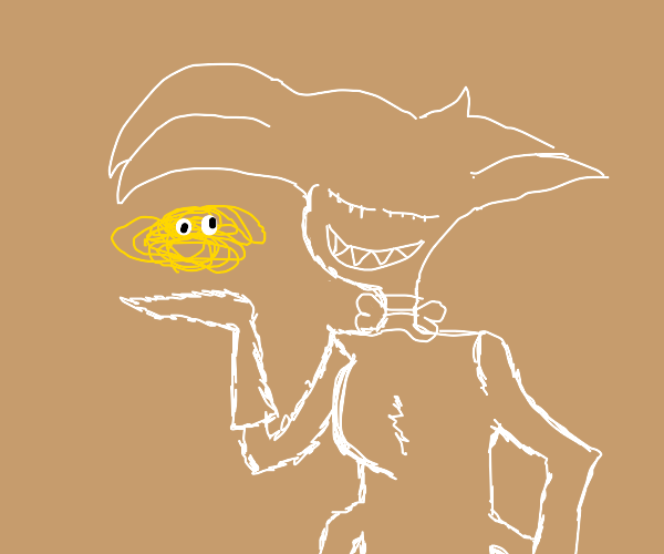 Angel summons the flying spaghetti monster