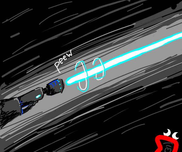 Blue laser gun