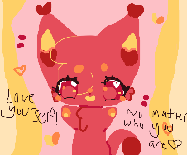 cat inspires you to love yourself