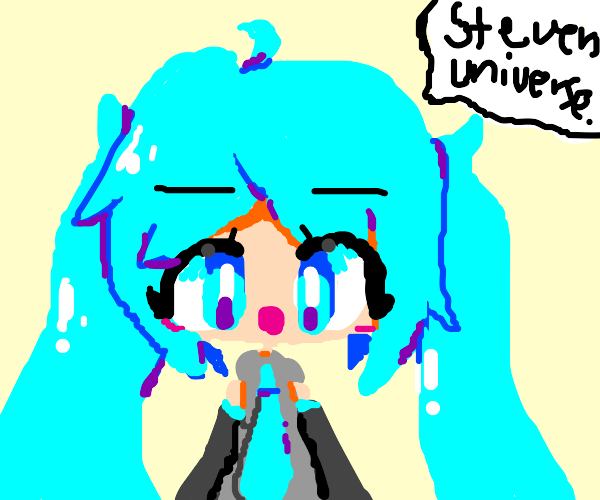 Hatsune Miku as Steven Universe