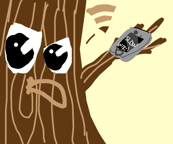 tree complaining about wifi