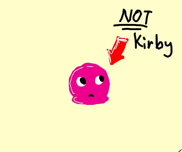 Pink blob (not Kirby)