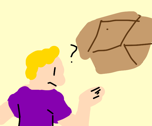 man is confused by box