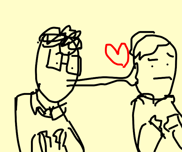 Person kissing another person