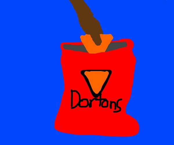 guy eating dorito bootleg (Dortons)