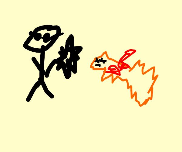 A blind ninja just killed a fox (how u dare?)