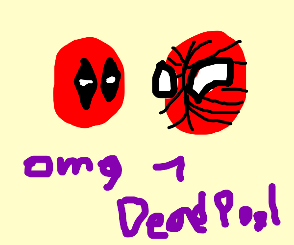 spiderman and deadpool (?)