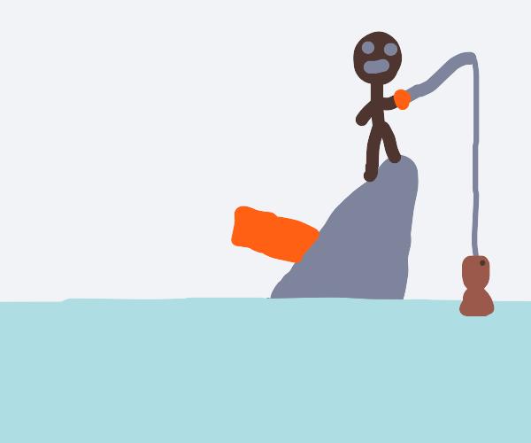 Iceburg fishing on the titanic