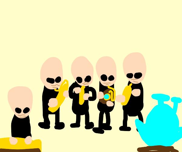 Musicians at the Star Wars cantina