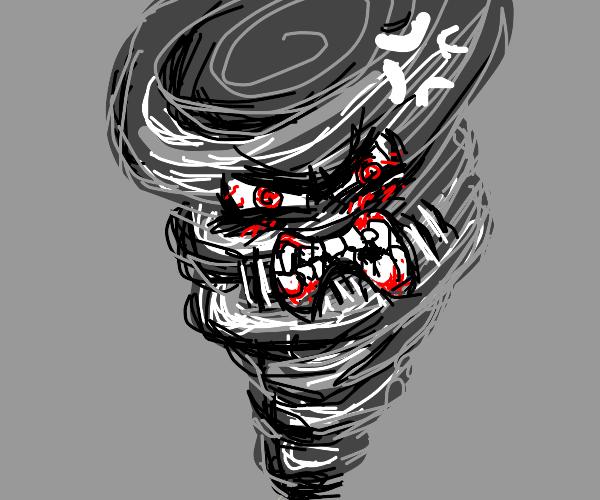 annoyed tornado