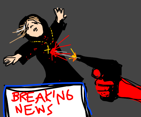 breaking news: old nun gets shot by red man