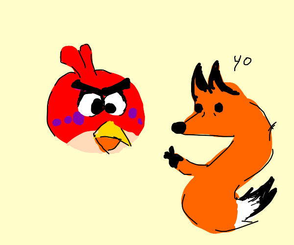 Angry Birds but there's a fox