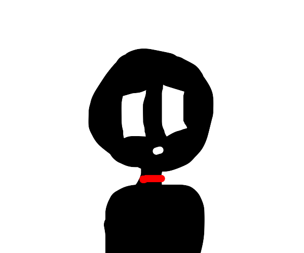 Creepy shadow man has throat slit