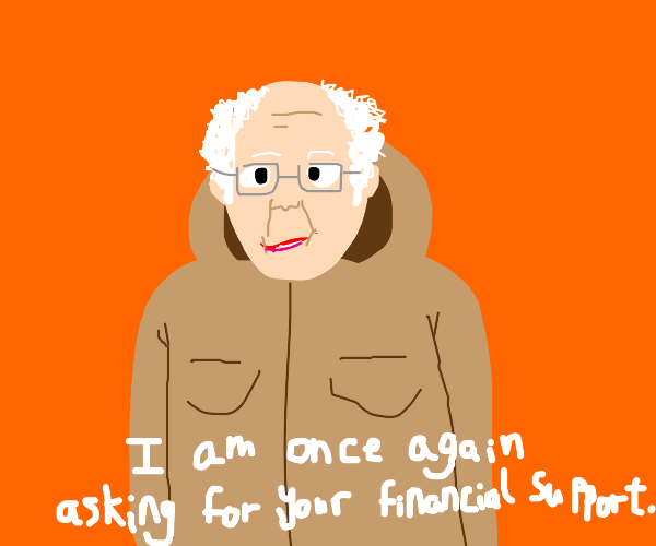 bernie asks for your financial support