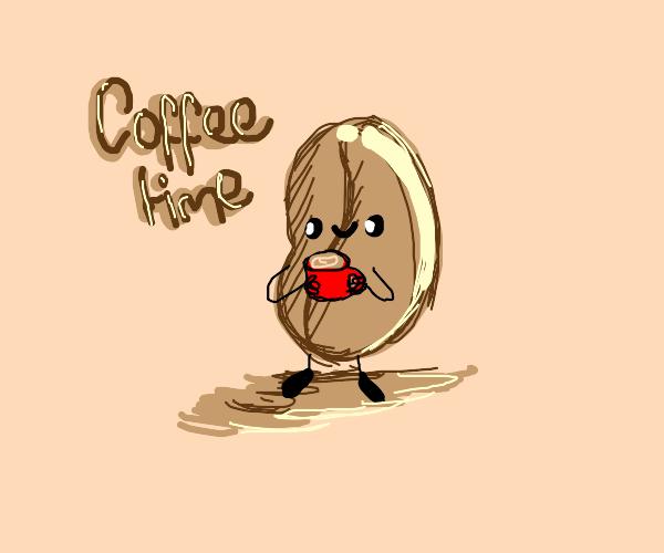 Talking coffee bean