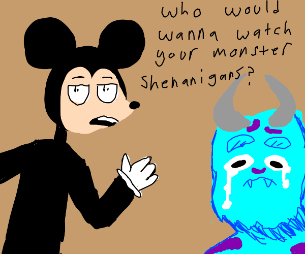 Mickey insults Pixar characters