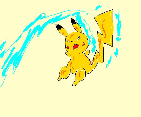 Pikachu uses Thunderbolt