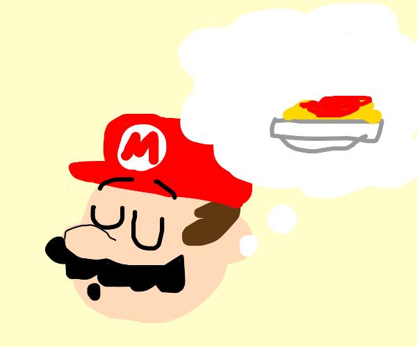 Mario dreams of pasta