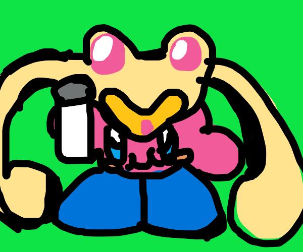 Chalk Kirby as Sailor Moon