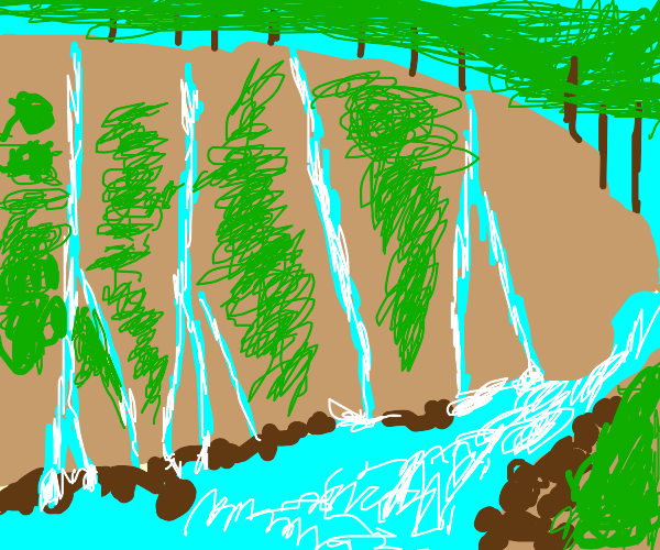 Drawception in a Colorful River