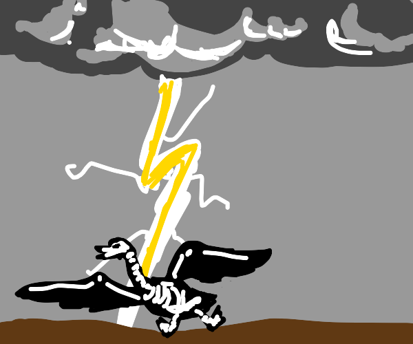 goose being struck by lightning