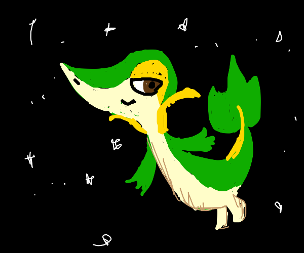 Snivy in space