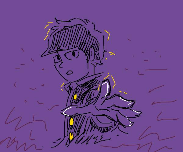 Psychedelic anime boy