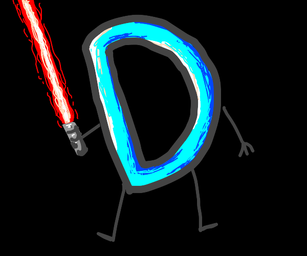 Drawception D with a lightsaber