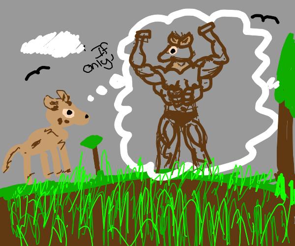 Bambi dreams of getting buff