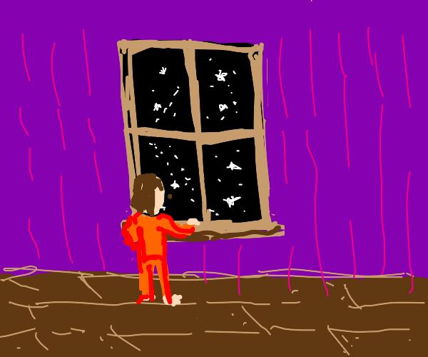 Stars to the window