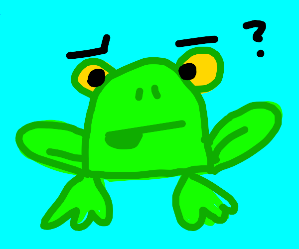 Confused Frog