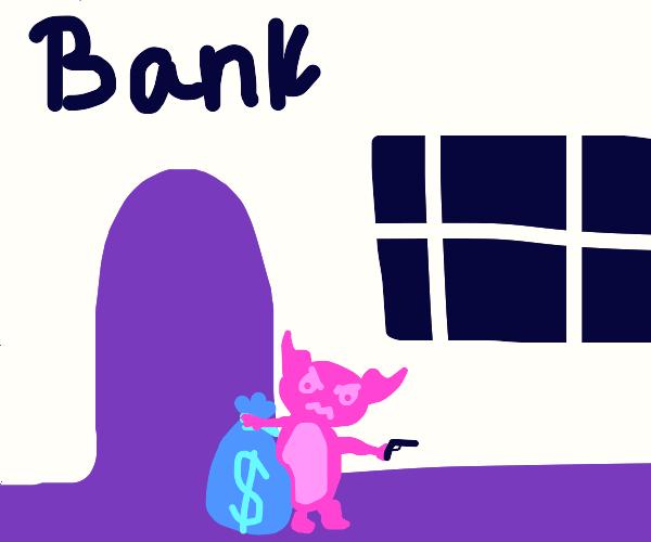Devil robbin da bank