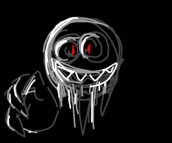 Creepy smile in the darkness