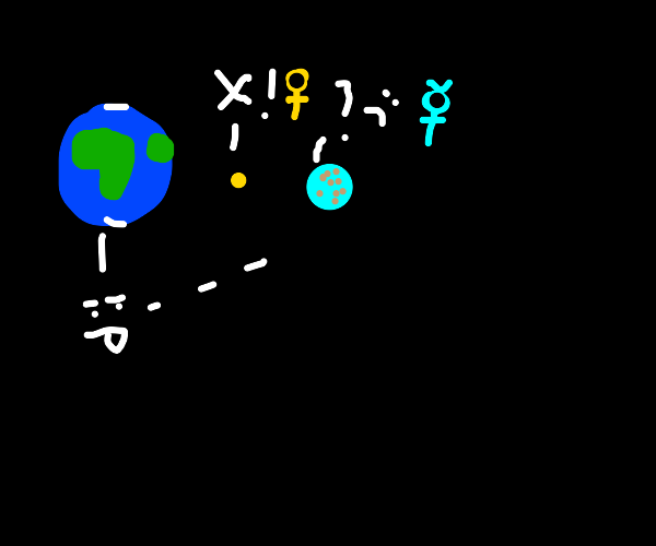 Earth makes fun of Mercury but Venus stops it