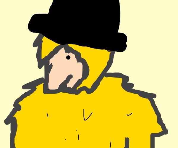 Big Bad Wolf wearing a Hat