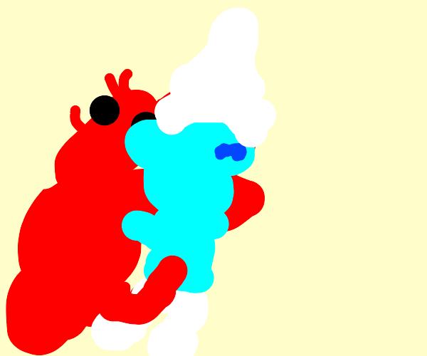 Lobster kicking smurfs